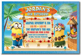 hawaiian luau minion birthday invitations di 313 harrison