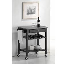 amazon com baxton studio quebec black wheeled modern kitchen