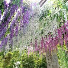 hanging flowers 2016 newly arrival artificial flower wisteria home garden hanging