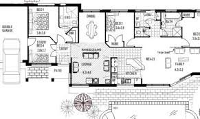 Narrow Block Floor Plans Narrow House Plans With Garage House Plans Narrow Blocks Plans