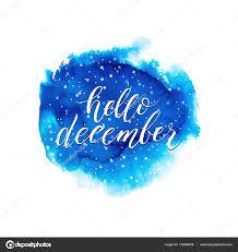 imagenes hola diciembre hola texto diciembre en salpicaduras de acuarela azul archivo