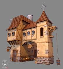 home fantasy design inc artstation low poly stylized fantasy house 1 gerald cruz hand