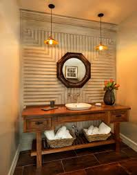 Orange Powder Room Summer Trend 25 Dashing Powder Rooms With Tropical Flair