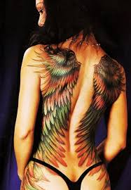 wing tattoos on back for