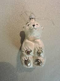 krebs lauscha blown glass ornament silvery polar w