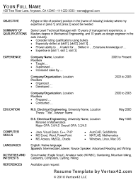 resume template format free resume template for microsoft word