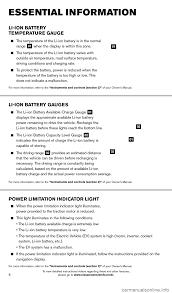 nissan leaf ev system warning light nissan leaf 2014 1 g quick reference guide