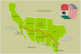map usa mexico border map of us mexico border fence at maps usmexico border directory