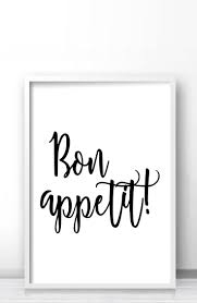 Kitchen Art Ideas by Bon Appetit Printable Wall Art Kitchen Typography Print Black