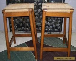 danish bar stools vintage mid century danish modern woven bar stools teak wood for