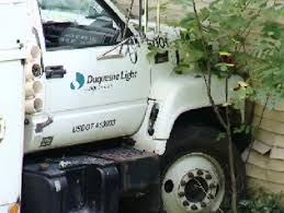 duquesne light pittsburgh pa utility truck slams into penn hills home cbs pittsburgh