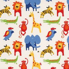 Fabric For Nursery Curtains Nursery Fabric Kingdom 3 D Safari Animal Toss Flannel