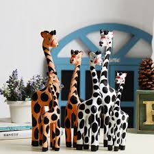 decorative wooden giraffes home decor 2017