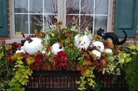 fall decorations for outside 411 fall fabulous decorating window and window flower boxes