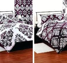 Purple Coverlets Purple Bedspreads On Black And White Damask Reversible Comforter