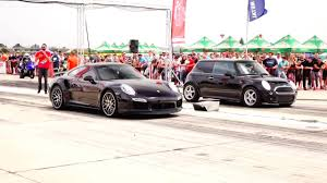 Porsche 911 Turbo S Vs Mini Cooper 1 6 Turbo 380hp Youtube