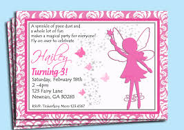 fairy invitation printable or printed with free shipping