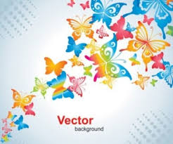 colorful butterfly vector background background vector ai