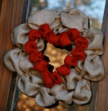 burlap wreath brown