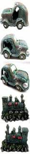 cute figurines cars vehicles trains fish tank ornament aquarium