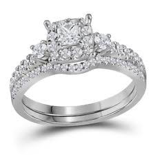 white gold wedding ring sets white gold engagement wedding ring sets ebay