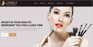 Makeup Artist Websites 23 Cosmetics Website Templates Free U0026 Premium Themes Creative