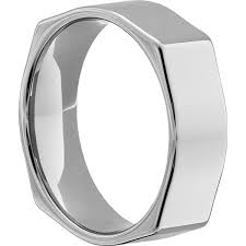 mens unique wedding ring squared mens polished unique rings forever metals
