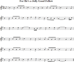 hes jolly good fellow free violin sheet music