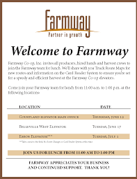 Truck Route Maps Farmway Co Op Inc Is Hosting An Upcoming Event Republic County