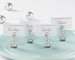 sparkling snowflake place card holder set of 6 kate aspen
