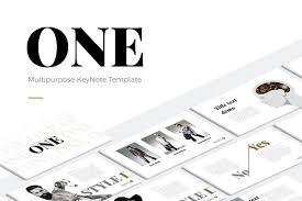 one modern keynote template presentation templates creative market