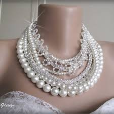 chunky necklace pearl images Chunky layered bridal pearl necklace chic selections shop jpg