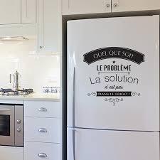 stickers cuisine phrase stickers muraux phrases et textes de cuisine pour frigo ou murs par