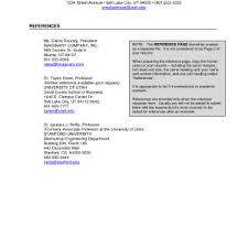 Resume Reference Page Sample by Resume References Professional And Personal Resume Examples 10