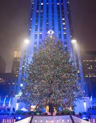 rockefeller tree lights up and officially kicks the
