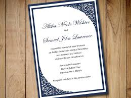 formal invitation printable wedding invitation template navy blue
