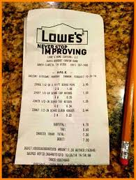 Lowes Resume Sample by 6 Lowe U0027s Receipt Template Resumes Great