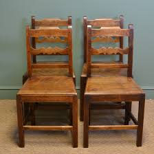 Antique Kitchen Furniture by Set Of Four Country Farmhouse Georgian Antique Kitchen Chairs