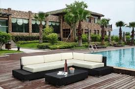 canapé d angle jardin grand salon de jardin en résine tressée avec canapé d angle coloris