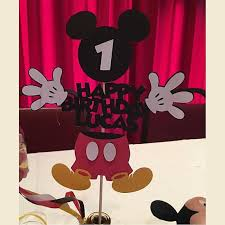 mickey mouse centerpieces mickey mouse centerpiece decoration 2pc from brooklynelephant on