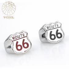 route 66 wedding band online shop stainless steel handmade men s biker route 66 ring usa