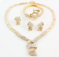 saudi arabia gold earrings accessories sets summer style gold plated bridal necklace