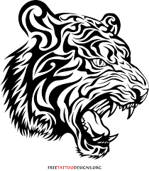 53 tribal tiger ideas designs made by black ink