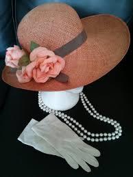 tea party hats orange vintage tea party set hat gloves by ashtreemeadowdesigns