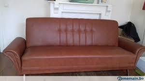 canapé lit cuir canapé lit en cuir très confortable a vendre 2ememain be