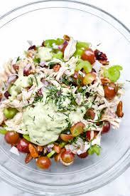 avocado and greek yogurt chicken salad foodiecrush com
