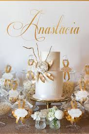 kara u0027s party ideas elegant gold white baptism party kara u0027s