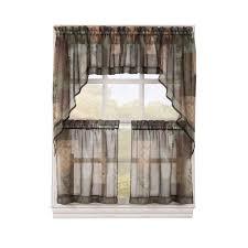 36 Kitchen Curtains by Lichtenberg Semi Opaque White Montego Grommet Kitchen Curtain
