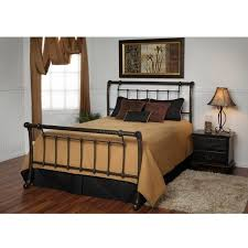 Cheap Sleigh Bed Frames King Size Metal Sleigh Bed Frame In Marble Finish