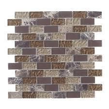 jeffrey court emperador brick 12 in x 12 in x 8 mm glass marble